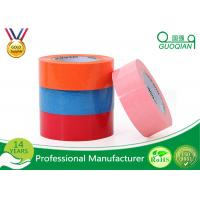 Custom Printed Pink / Blue Packing Tape , Coloured Sticky Tape Environment Protection 35 - 65 Mic Manufactures