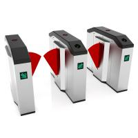 Customize Flap Barrier Gate Turnstiles / Metro Controlled Access Turnstile Manufactures