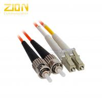 Duplex Fiber Jumper ST to LC Multimode Fiber Optic Patch Cord in Riser PVC Jakcet Manufactures
