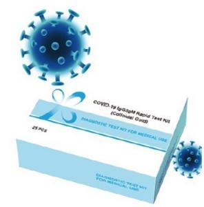 China Igg / Igm Covid-19 Rapid Test Kit 25 Tests Combined Antibody Test Kit High Speed on sale