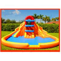 Inflatable Minor Wet Slide With Minor Inflatable Family Pool 0.9mm PVC Tarpaulin Manufactures