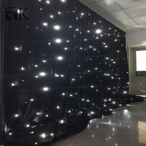 Cheap Decorative Fireproof Velvet Fabric LED Light Drop Curtain Manufactures