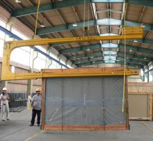 U Shape Glass Unloading Boom,C Shape Glass Crate Unloading Machine Manufactures