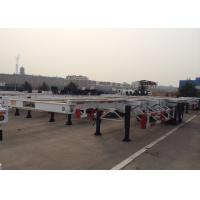 Two Axles 40 Foot Skeleton Semi Trailer For Cargo Container Transportation Manufactures