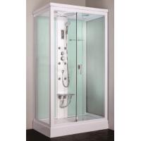 Cheap square framed sliding glass door steam shower cabin with seat Manufactures