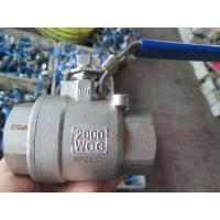 2-PC Stainless Steel Ball Valve, Body thread end.Cap Socket weld,Full Port ,2000WOG,Handle with lock Manufactures
