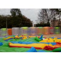 Swimming Pool Inflatable Fun Roller , Fire Resistence Walk On Water Roller Manufactures
