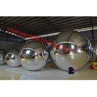 Colorful Inflated Helium Balloons / Inflatable Mirror Ball Ornaments For Advertising Manufactures