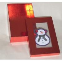 5 * 8 * 3.5 Inch Gloss Lamination Paper Decorating Gift Boxes With Clear Pvc Window Manufactures