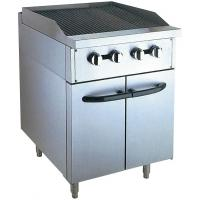 Stainless Steel 380V Gas Lava Rock Grill With Cabinet 12KW For Kitchen Equipments Manufactures