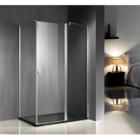 Quality 1200x800x6mm Clear Glass Shower Enclosures With Tray , Glass Bathroom Enclosures for sale