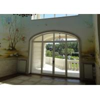 Quality Arched Decorative Glass Entrance Doors Sound Insulation For Commercial Building for sale