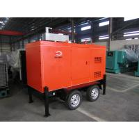 Mobile Trailer Mounted Generator 40KW / 50KVA With Silent Canopy And Fuel Tank Manufactures