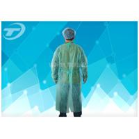 CPE Yellow Disposable Coveralls Waterproof Disposable Gown With Knitted Cuff Manufactures