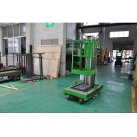 8m Platform Height Single Mast Aluminum Aerial Work Platform Green Color Shopping Mall Using with AC Power Supply Manufactures