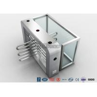 Double Anti - Clipping Waist Height Turnstiles AC220V With Stepping Driver Motor Manufactures