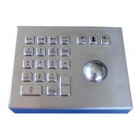 Rugged Weather proof industrial stand alone laser trackball mouse with numeric keypad Manufactures