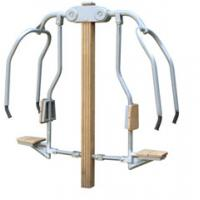 outdoor exercise equipments WPC materials based chest press push trainer Manufactures