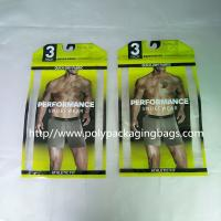 Thick PE Underwear Resealable Plastic Bags , Clothing Store Sticky Bone Foil Zip Lock Bags Manufactures