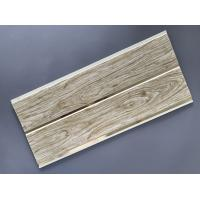 Customized Plastic Bathroom PVC Wood Panels , Bathroom Ceiling Cladding Panels Manufactures