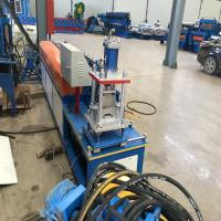 0.8mm Thickness Shutter Door Roll Forming Machine With Servo Feeding Manufactures