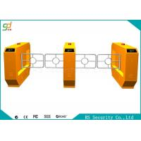 Quality RS485 Yellow Swing Barrier Gate With IR Sensor Anti-pinch Bi-direction Door for sale