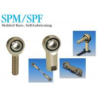 China SPM / SPF Industrial Stainless Steel Rod Ends Self Lubricating Molded Race on sale