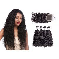 No Tangling 100% Water Wave Hair Bundles With Closure Water Resistant Manufactures