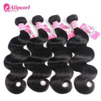 Natural Black Brazilian Body Wave Hair 3 Bundles Deals Virgin Remy Hair Wavy Weft Manufactures