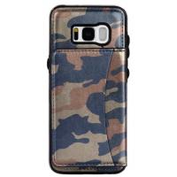 Quality Galaxy S8 Samsung Leather Wallet Case Crazy Horse Original Camouflage Color for sale