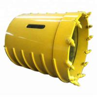 Carbon Steel Drilling Core Barrel , Hard Rock Drilling Bucket Conical Teeth Manufactures