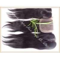 Silk top closure 4''x4'' peruvian virgin hair natural color,straight 10''-24''middle part Manufactures