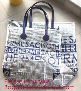 Aluminum Cooler Bag Thermal Bag,oxford cloth adjustable messenger student insulation lunch cooler bag bagplastics packa