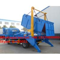 Quality Factory sale dongfeng 4*2 LHD 5m3 hydraulic hookling arm garbage truck, HOT SALE for sale