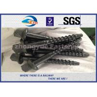 Quality Material 45# Railway Custom Railroad Track Spikes , Threaded Screw Spike for sale