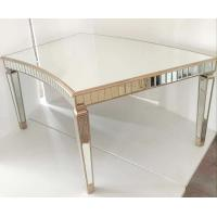 Quality Curved Tempered Glass Dining Table , Contemporary Glass Dining Table For Events for sale