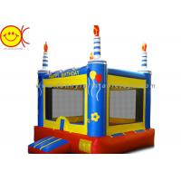 Quality 0.55mm PVC Birthday Cake Inflatable Bounce House Jumper Combo Bouncer For Kids for sale