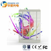 High Brightness Transparent Screen Poster Glass LED Display For Street Window Manufactures