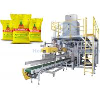 Automatic Granule Packing Machine For 25kg Solid Urea / Polymer Bound Rubber Chemicals Manufactures