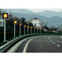Sychronized Solar Blinker Light LED Traffic Signs 12 Hours Flashing Manufactures
