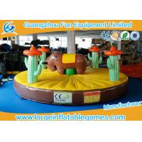China 0.55mm PVC Tarpaulin Inflatable Sport Games , 5*5m Inflatable Rodeo Bull on sale
