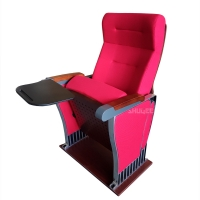 Foldable Audience Seating PU Molded Foam Anti Stained Auditorium Chairs With Writing Board Manufactures