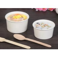 Full Colour Print Paper Soup Cups , Paper Take Out Soup Containers Food Grade Manufactures