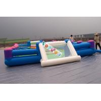Playground Large Inflatable Football Game /  Inflatable Soccer Field For Rental Business Manufactures