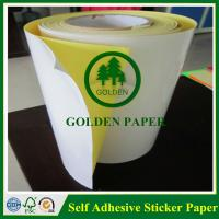 Self adhesive customized cmyk sticker printing paper Manufactures