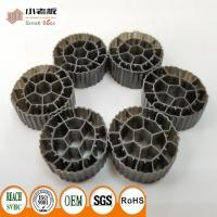 PE06 MBBR Filter Media With Balck Color And  Virgin HDPE Material For 25*12mm Size Manufactures