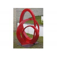 Public Park Stainless Steel Sculpture Red Painted Abstract Metal Sculpture Manufactures