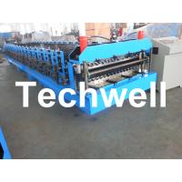 Automatical Double Layer Roof Wall Panel Roll Forming Machine With 0.3 - 0.8mm Thickness Manufactures