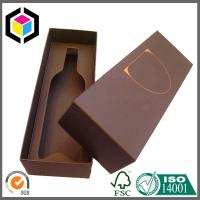 Gold Logo Foil Print Chipboard Paper Gift Box for Wine Package with Foam Insert Manufactures