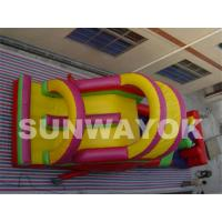 Outside Safety Commercial Inflatable Obstacle Course With Durable PVC Manufactures